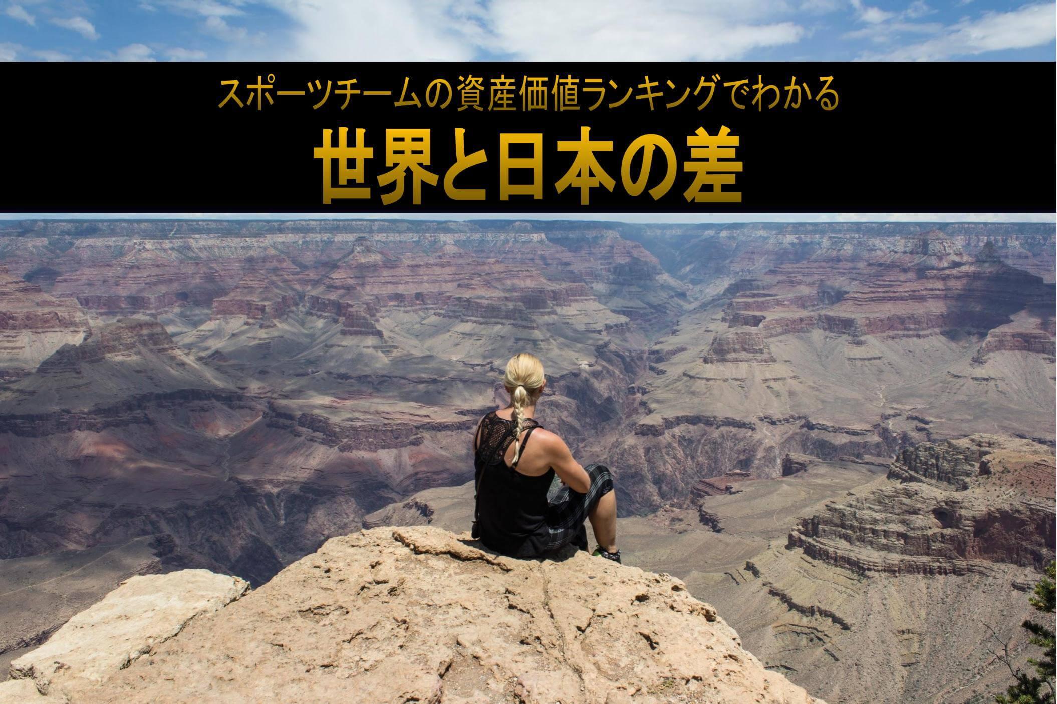グランドキャニオンを眺めるたくましい女性 スポーツチームの資産価値ランキングでわかる世界と日本の差