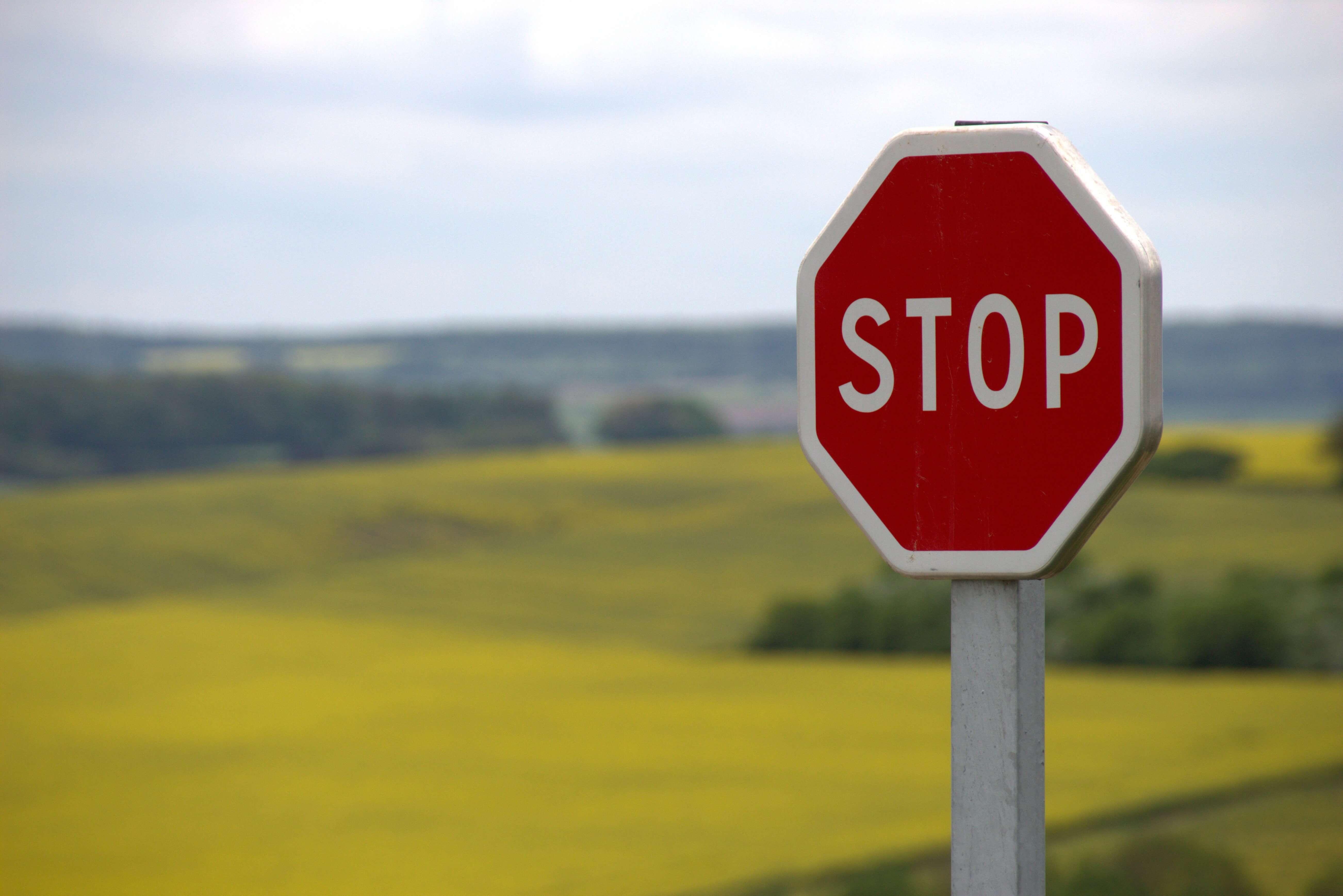STOPの標識