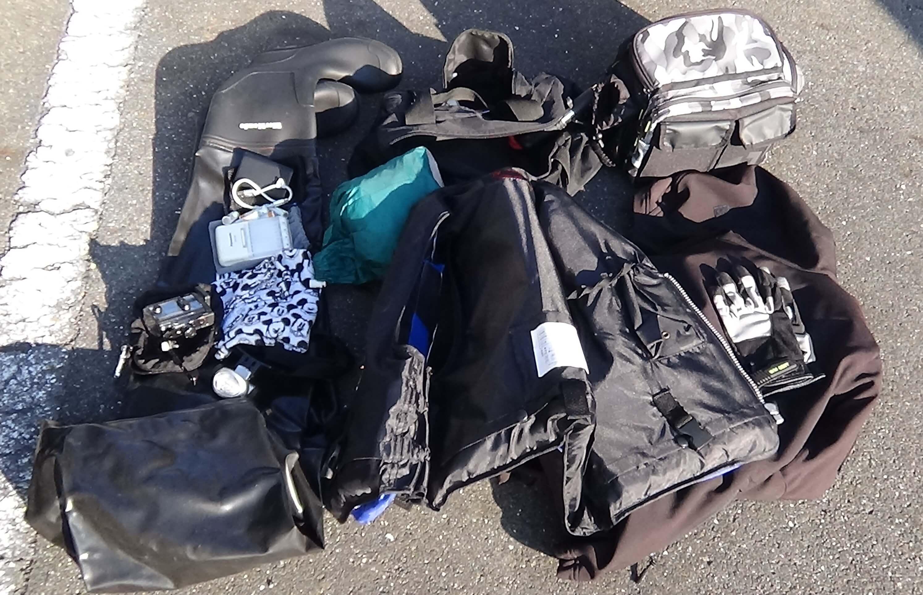 ビッグスクーターに積んだ荷物一覧