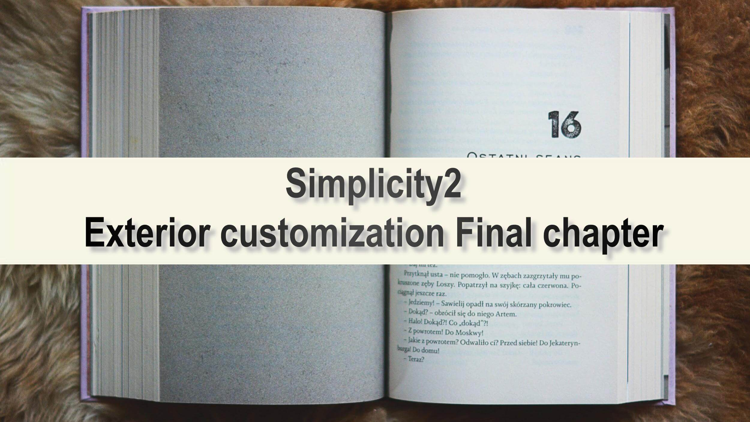 小説後半 テキスト「Simplicity2 Exterior customization Final chapter」