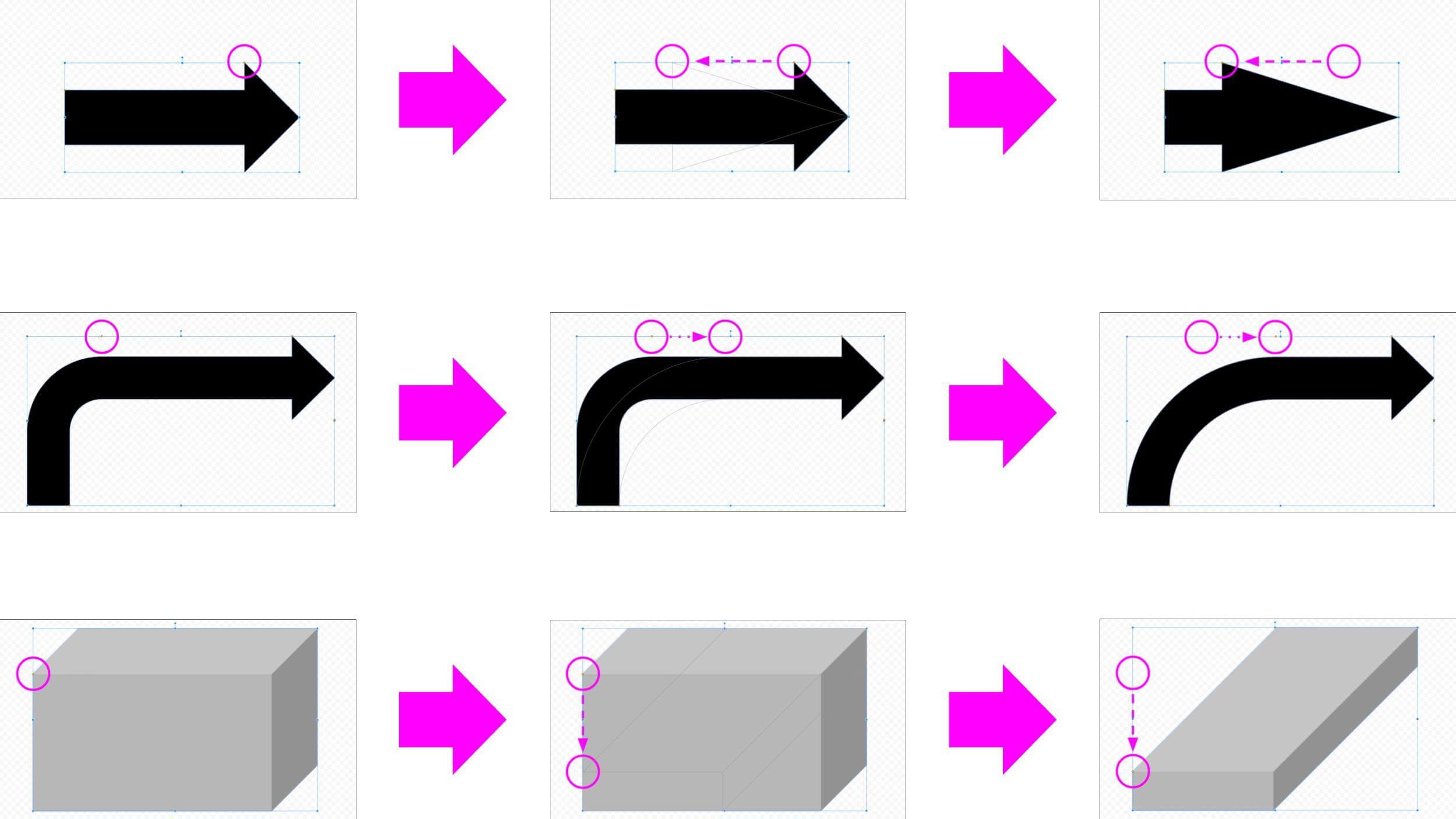 図形のカスタマイズ例