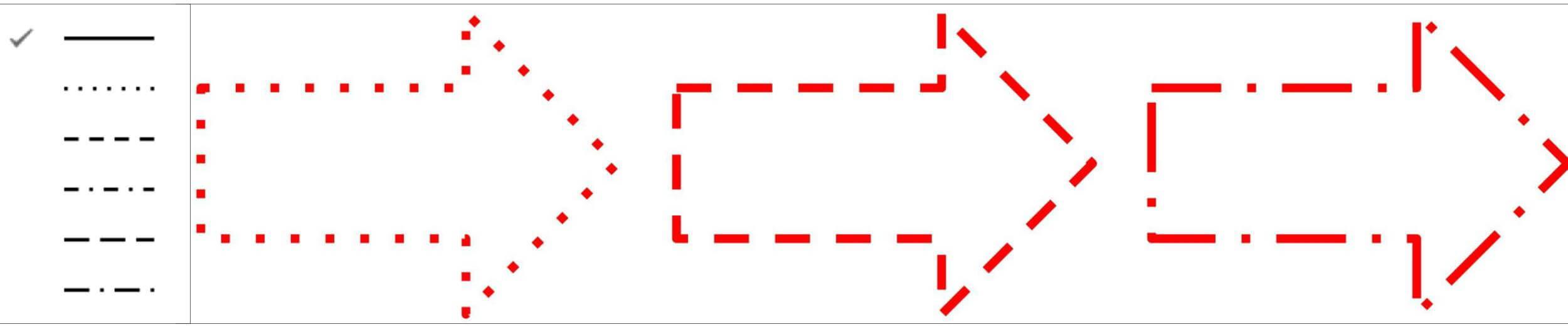 Google図形描画 破線の枠線のパターン