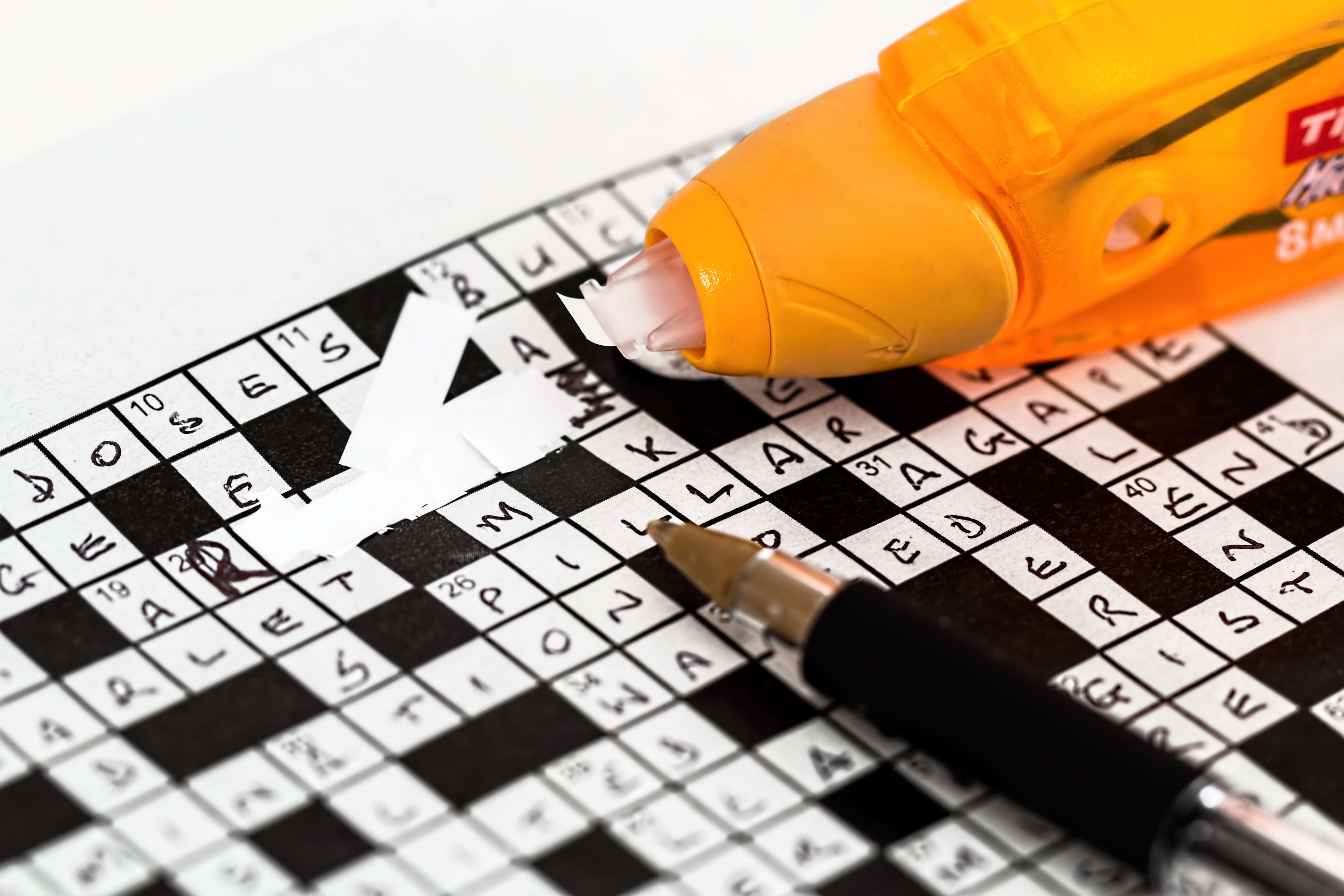 ワードパズルを修正